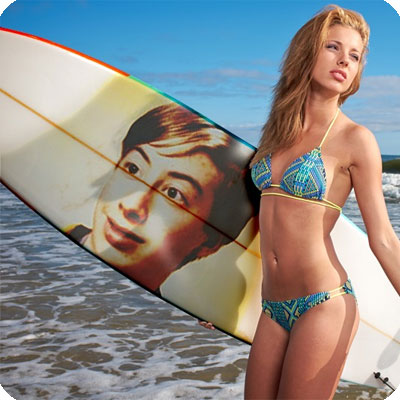 Photo effect - Time to hit the beach with surfboards