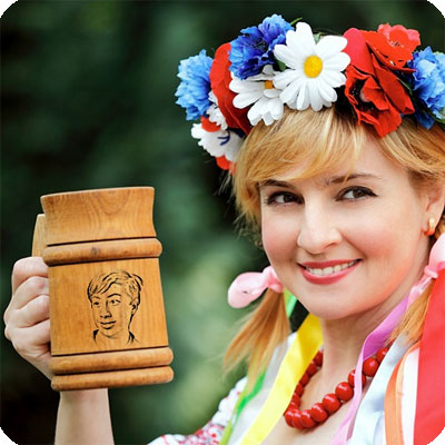 Photo effect - Ukrainian girl in the national garb
