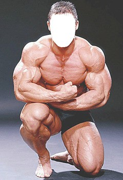 Bodybuilder. sterke man