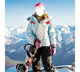 Mini Photo frame Girl snowboarder
