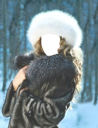 Mini Photo frame Winter woman