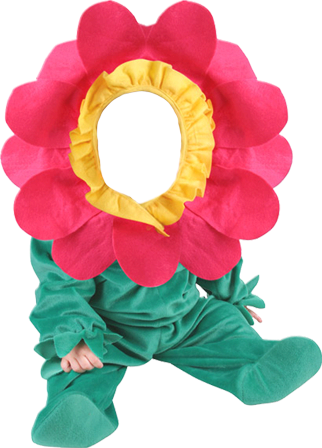Photo frame Baby. Flower