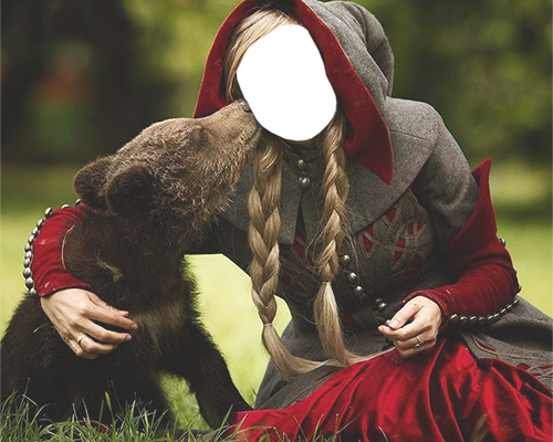 Vaše foto - Girl with a bear