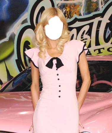 Your photos - Paris Hilton and pink car