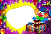 Molduras para fotos - Happy Birthday with Baloons