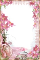 Photo frame - Pink Lilies