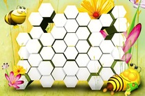Photo frame - Kids Frame. Honeycomb
