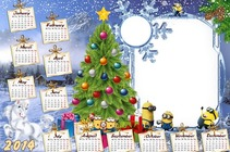 Photo frame - Calendar 2014 - Meet the New Year with minions