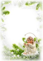 Molduras para fotos - Little angel wish you a happy holidays