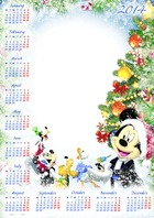 Photo frame - Calendar 2014 - Christmas snowfall with cartoon heroes