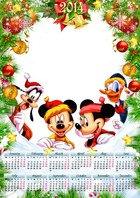 Photo frame - Calendar 2014 for Kids - Merry Friends