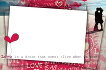 Photo frame - Love is a dream...