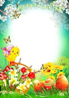Photo frame - Bright Easter Card
