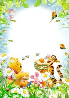 Photo frame - Picnic with Winnie the Pooh and his friends