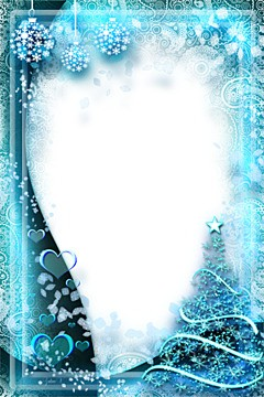 Neon light of magic winter