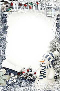 New year congratulation from snowman