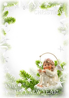 Little angel wish you a happy holidays