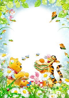Picnic with Winnie the Pooh and his friends