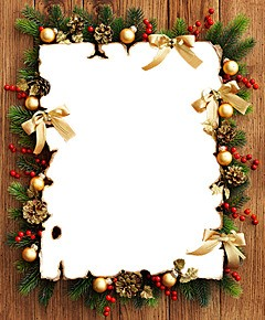 photo frame from christmas decorations