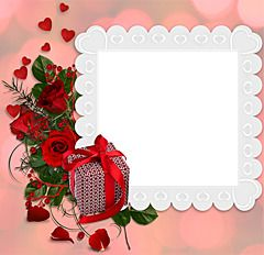 Love photo frame with a secret of a couple