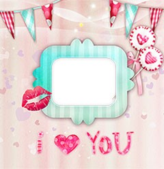 Sweet sweet love in photo frame