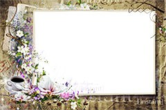 Flower frame with water lily
