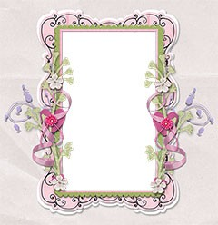 Tenderly decorated frame