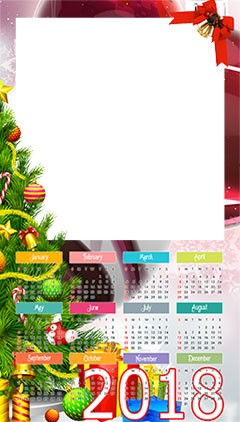Calendar 2018. Christmas is coming