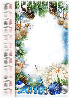Calendar 2018. New Year is coming