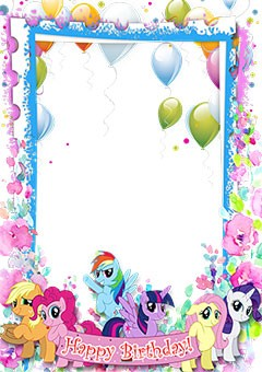 Happy Birthday. My little pony