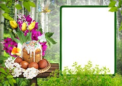 Bright Easter photo frame