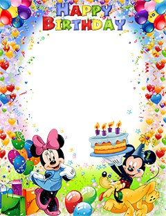 Mickey and Minnie Mouse wish you a Happy Birthday