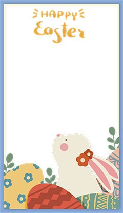Happy Easter illustration photo frame