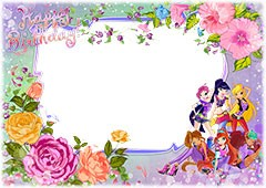 Happy Birthday with fairies from Winx club