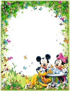 Mickey and Minnie Mouse with Pluto