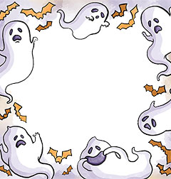 Halloween ghosts party