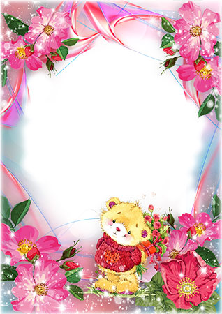 Flowers with a cute bear