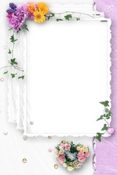Photo frame - Wedding Flowers