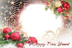 Photo frame - Lovely Holiday New Year