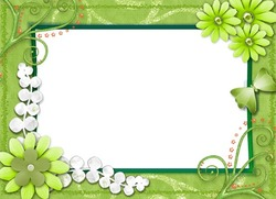 Mini Photo frame - All green around