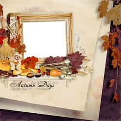 Mini Photo frame - Days of autumn