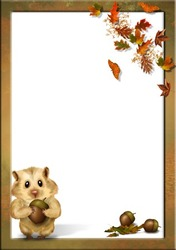Mini Photo frame - Autumn for kids