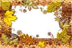 Mini Photo frame - Autumnal leaf fall