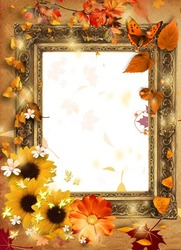 Mini Photo frame - Autumn leaves