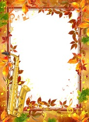 Mini Photo frame - Autumnal melody