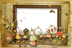 Mini Photo frame - Autumn portrait