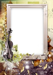 Mini Photo frame - Autumnal violin