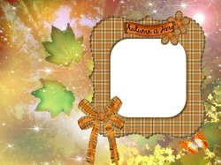Mini Photo frame - Autumn is here