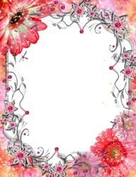 Mini Photo frame - Beautiful red flowers