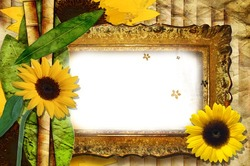 Mini Photo frame - Beauty of sunflowers